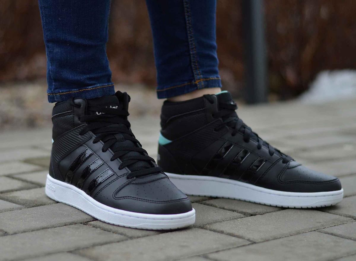 Details zu Adidas VS Hoopster MID B74237 Damen Sportschuhe Sneaker